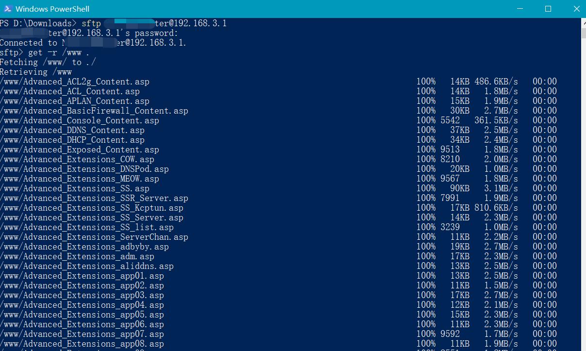 以下命令表示将 /www 目录 里的所有文件,保存到 当前路径下的 copy_this_www 文件夹